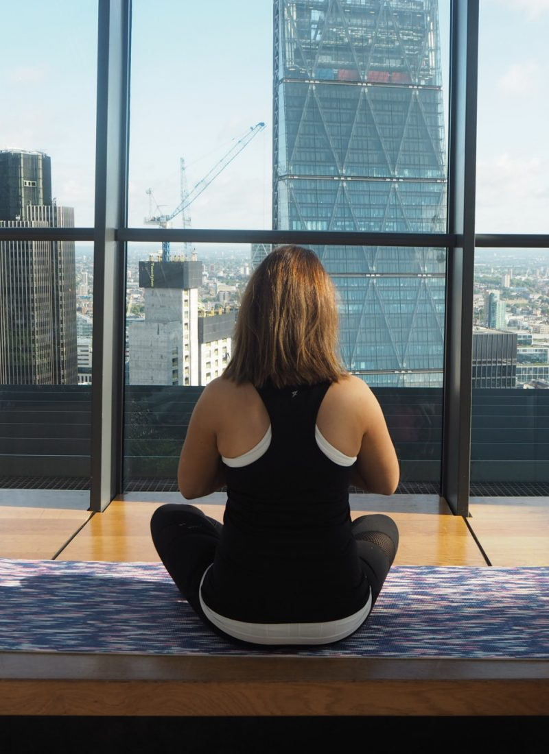 Early morning yoga at the sky garden